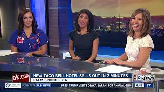 Rooms at Taco Bell Hotel sell out in minutes
