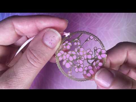 PixieCrafting: Sakura Lesezeichen * DIY - Anleitung - Watch me craft * UV Harz/Resin *