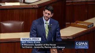 Speaker Ryan final floor speech (C-SPAN)