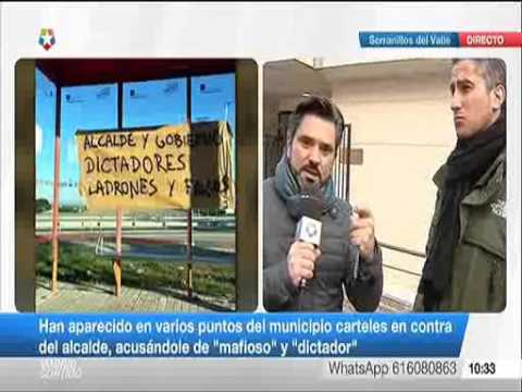 Telemadrid  Entrevista a delegado de CSIF en Serranillos  19/12/16