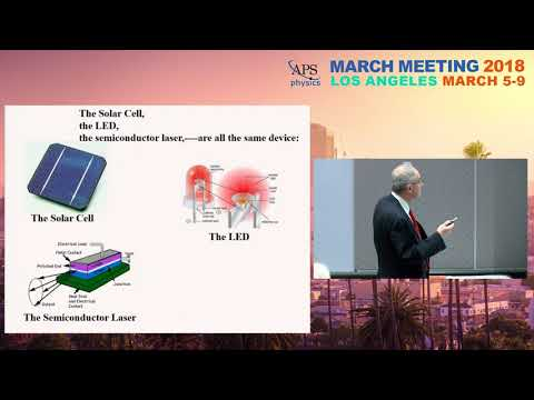 The Double-Heterostructure Concept in Lasers, LED's, and Solar Cells: Eli Yablonovitch