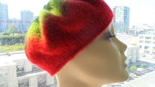 Классический берет из Кауни  (спицы) часть1 (knitted beret) (Шапка#5)