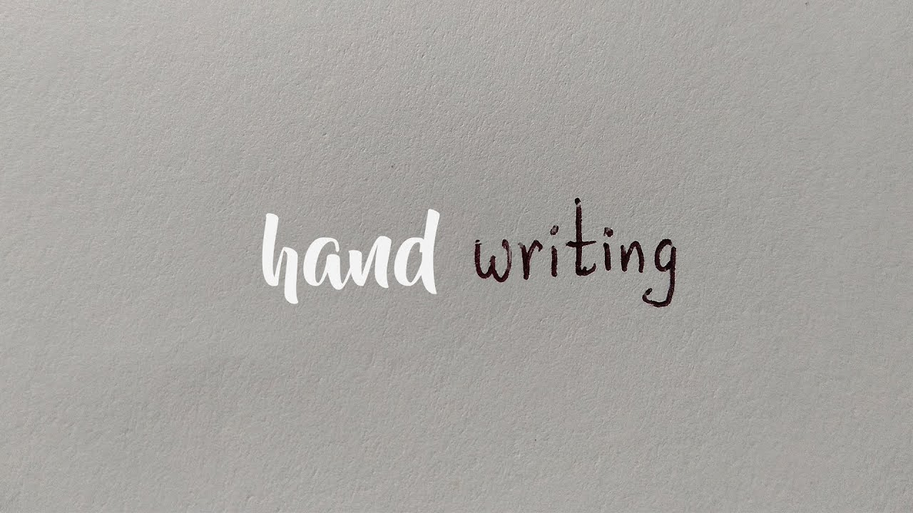 A video about Handwriting | Tips to to improve your Handwriting