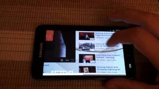 Samsung Galaxy Note Web Browsing