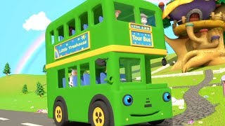 Колеса на автобусе | рифмы для детей | Детские стишки | лучшие детские песни | Wheels On the Bus