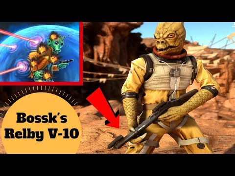 Bossk's Micro Grenade Launcher - Relby-v10 Morter Launcher & Targeting Rifle - Star Wars Weapons