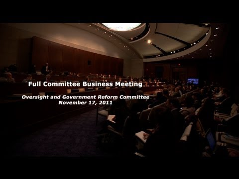 11-17-2011 Full Committee Business Meeting - Part 1