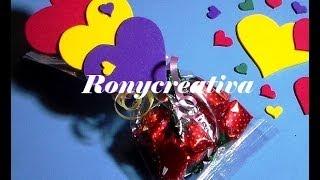 COMO HACER CORAZONES DE FOMI O GOMA EVA / CANDYS HEART DIY