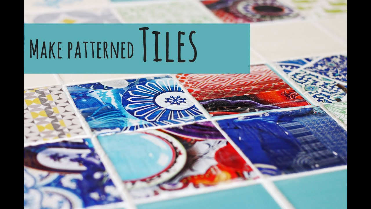 Make your own patterned tiles - YouTube
