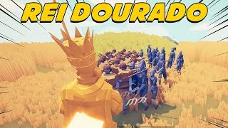 O PODER DO REI DOURADO - Totally Accurate Battle Simulator TABS