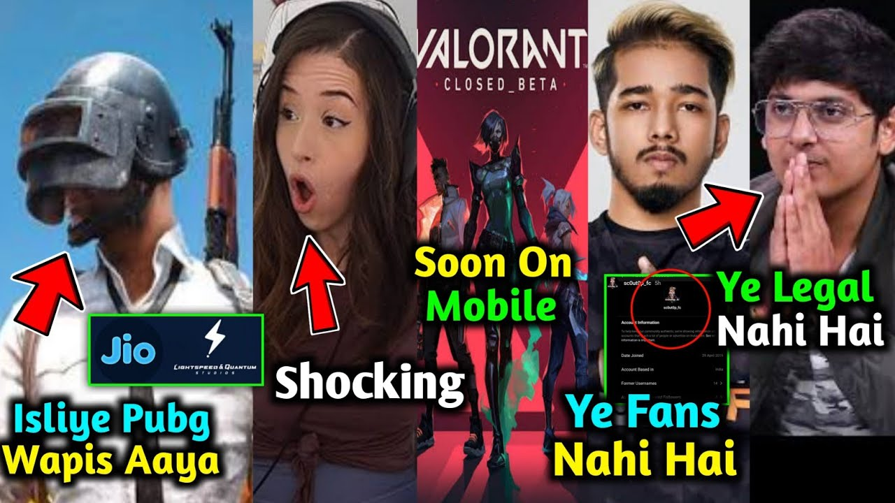 PubG Mobile Indian Version Impact on India | Scout Cheering MortaL - What Happened? | Dynamo, Rega