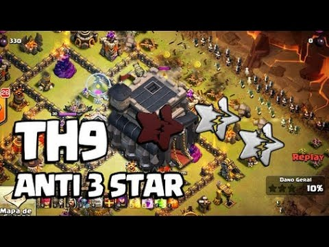 Th9 Anti 3 star Trophy/War Base in CoC|Snow Fort Forum Base!