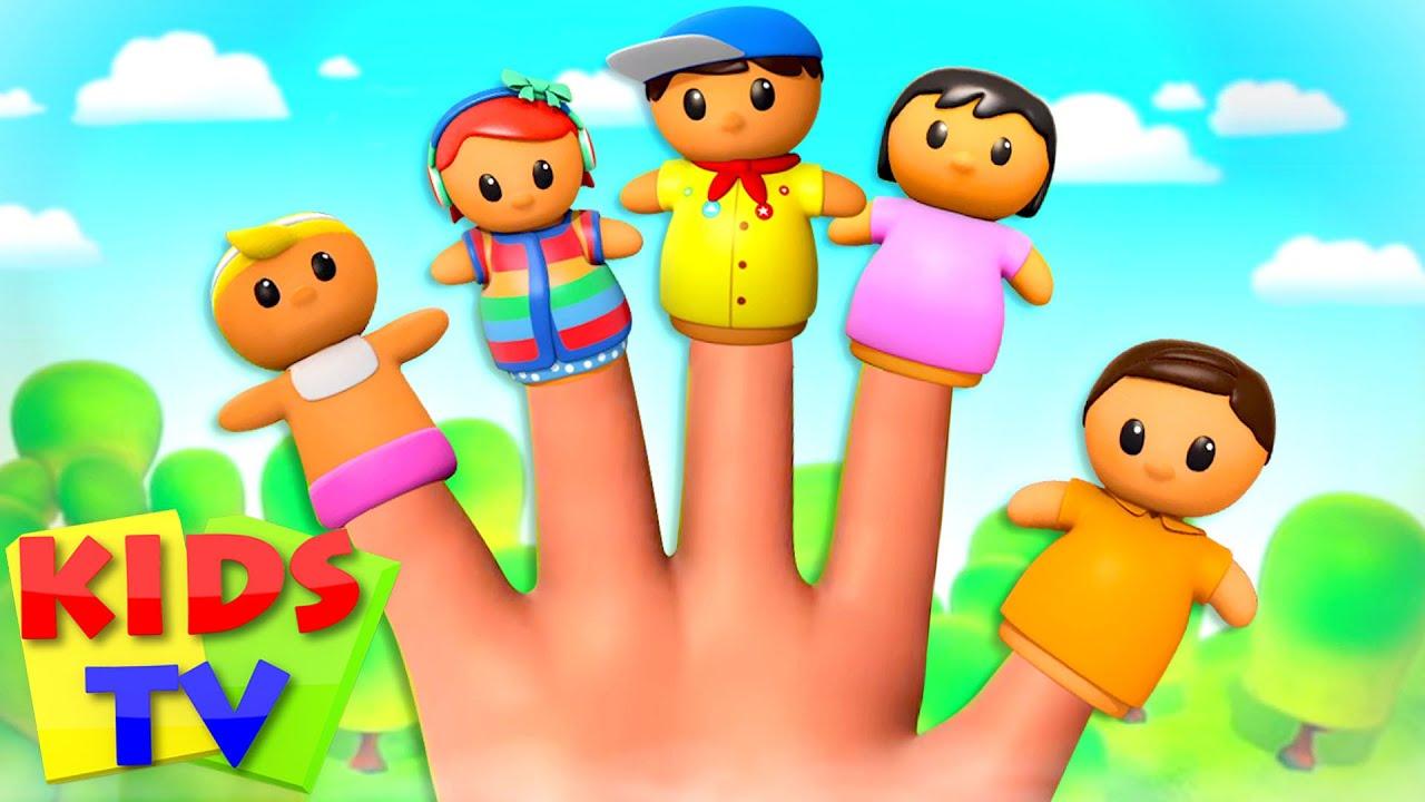 The Finger Family Song | Daddy Finger | Family Fun + Preschool Nursery Rhymes & Baby Songs - Kids Tv