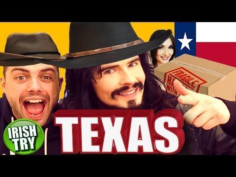 Irish People Try TEXAS Care Package For The First Time!!