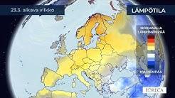 Kuukausiennuste lämpötiloista 10.3.2020