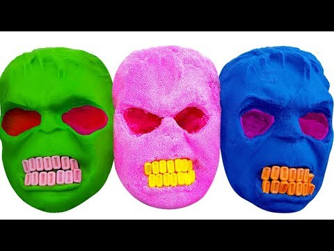 Thumbnail: DIY How to Make Kinetic Sand & Play doh Mask Hulk, Baby Doll Bath Time M&M Candies Nursery Rhymes