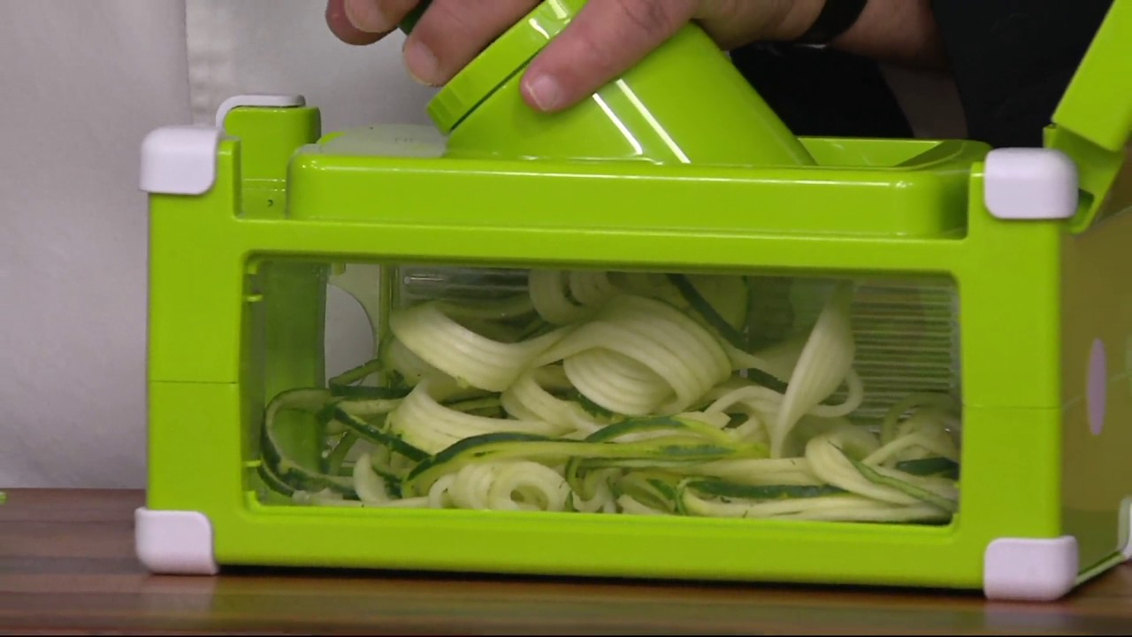 genius 12pc nicer dicer magic cube on qvc youtube. Black Bedroom Furniture Sets. Home Design Ideas