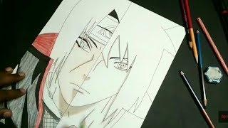 How to draw (Itachi & Sasuke) split drawing | Anime Artist |