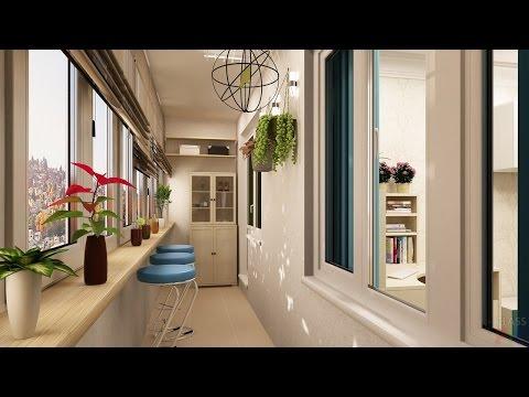 Дизайн Отделки Балкона - 2017 / Balcon Finish Design / Design-Oberflächen Balkon
