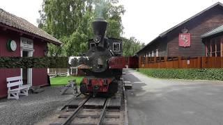 Steam Railway at National Railway Museum in  Hamar Norway, part 1.