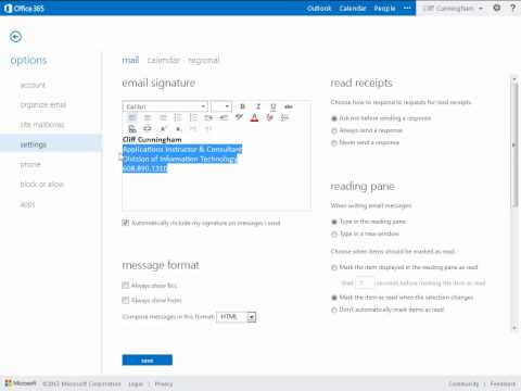 Signatures - Office 365 Outlook Web App - Email