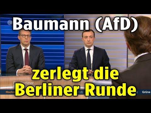 ★ Bernd Baumann AfD zerlegt die Berliner Runde ★ Radio Deutschland Eins ★