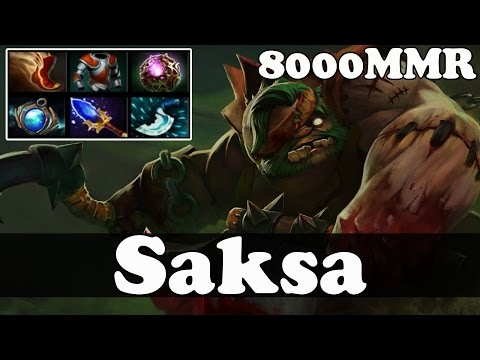 Dota 2 - Saksa 8000 MMR Plays Pudge - Pub Match Gameplay