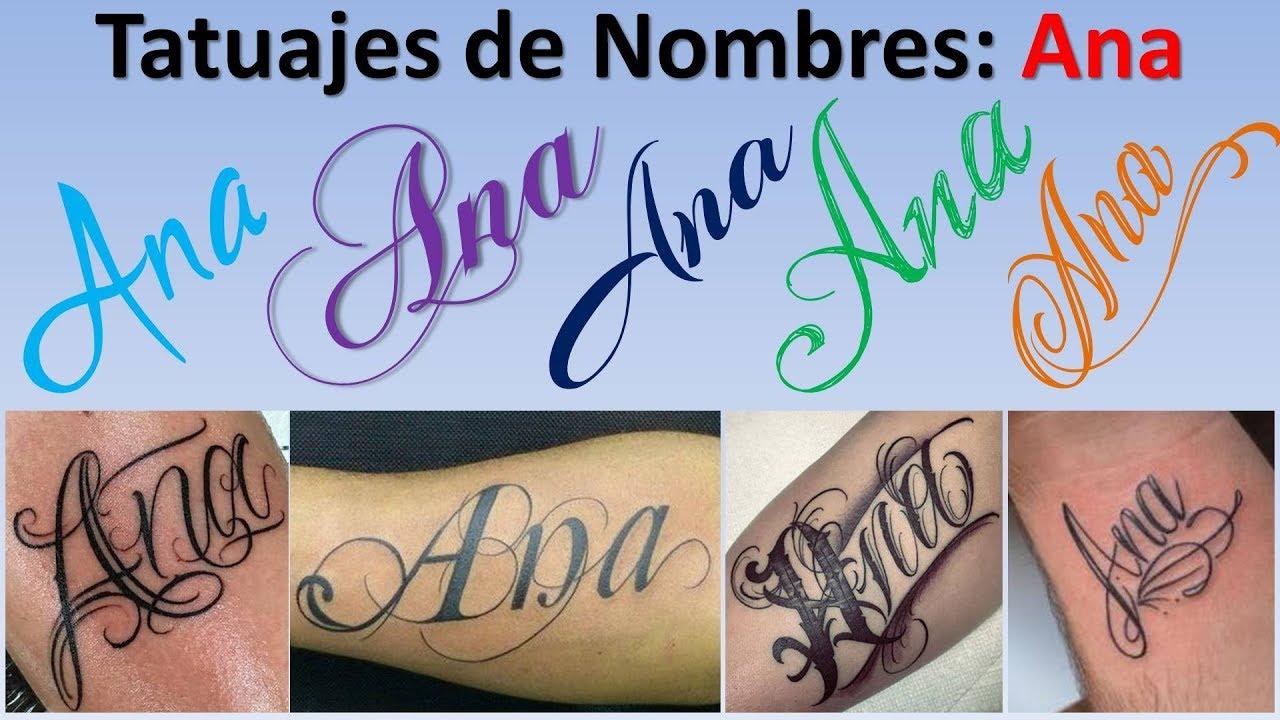 Diseños Y Tatuajes De Nombres Ana Youtube