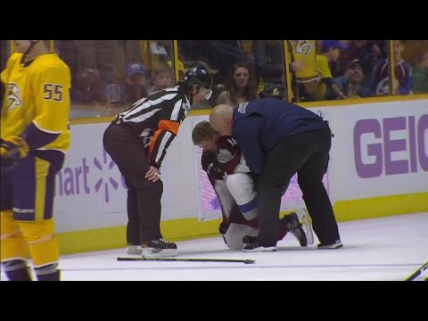 Predators' Watson hits Toninato hard into boards, gets game misconduct