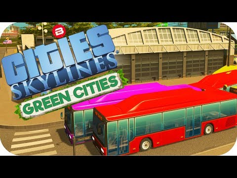 Cities: Skylines Green Cities ▶BIO FUEL MASS TRANSIT!◀ Cities Skylines Green Cities DLC Part 4
