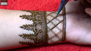 Gambar cover Cute full hand mehndi design for Front || Mehendi Designs By MehndiArtistica || latest Floral mehndi