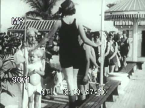 74850bfe06 1920s Swimwear Fashion - YouTube