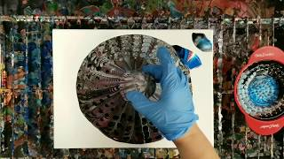 Acrylic Pouring Through a Can Strainer? Why not!