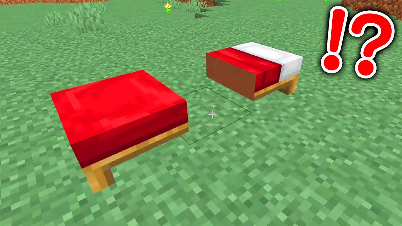 Minecraft The bed was split into two