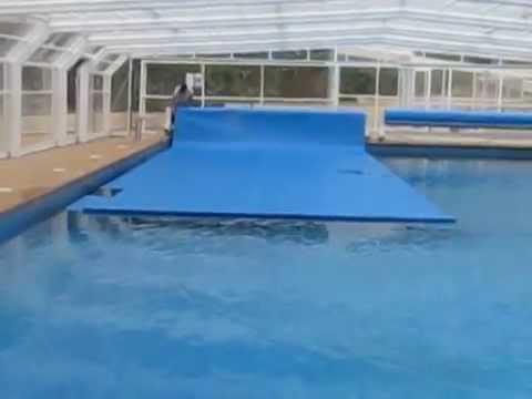 Manta termica de burbuja automatica video de apertura for Manta termica piscina
