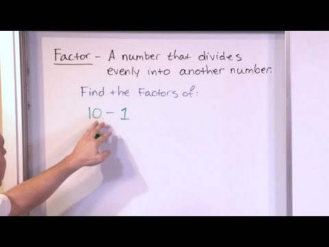 Finding Factors of Numbers - 5th Grade Math