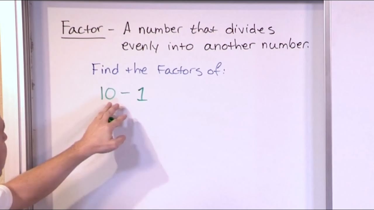 Finding Factors of Numbers 5th Grade Math YouTube – Factoring Numbers Worksheet