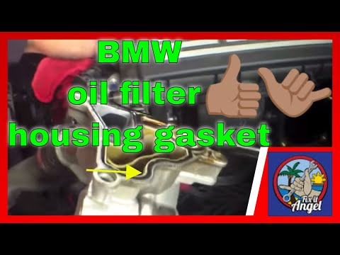 Replace Oil Filter Housing Gasket BMW 3 Series E90√ Fix it Angel