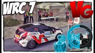 Играем на руле Logitech G27 ☺ WRC 7 FIA World Rally Championship #2