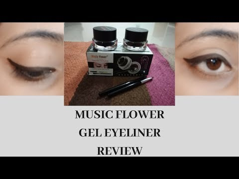 MUSIC FLOWER GEL EYELINER FULL REVIEW & SWATCH | CHEAPEST & BEST GEL LINER | SWAGG WITH RUPALI |