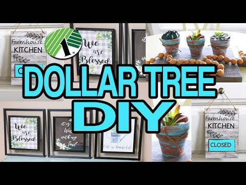 Dollar Tree DIY 🌟 Farmhouse Wall Decor 2019