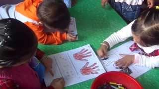 Happy Kids Montessori School: Controlled Coloring Activity (Pre-Writing Skills)
