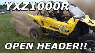 loudest yamaha yxz ever open header madness no muffler