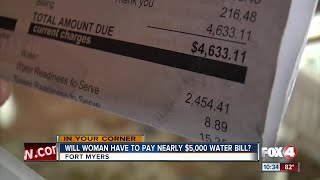 City officials say disabled woman's nearly $5,000 water bill is result of one week of water use