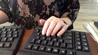 ASMR silent typing and paper sorting