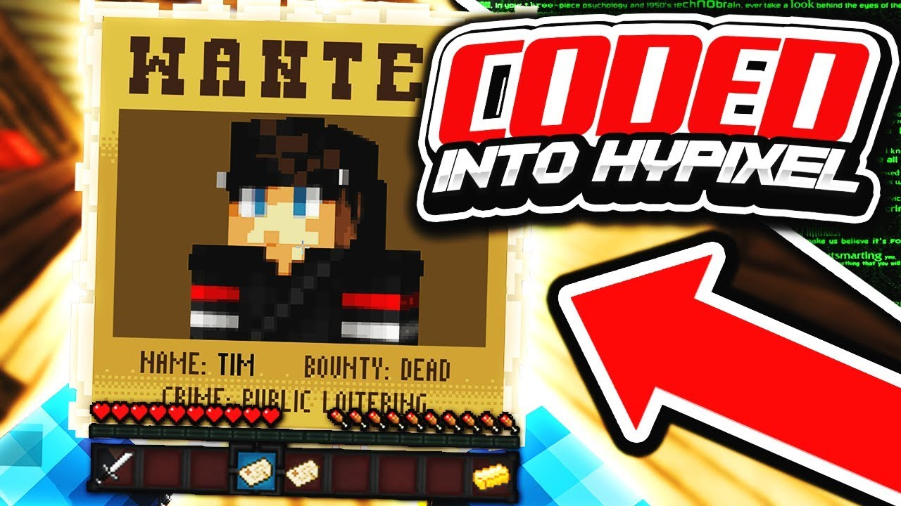 MY SKIN IS CODED INTO HYPIXEL SERVER!!