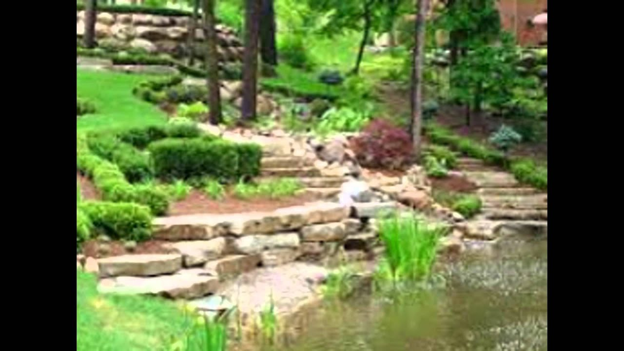 Wonderful garden landscape with fish pond and waterfall for Landscaping around koi pond