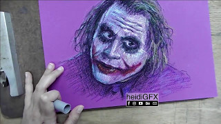 The Joker - Oil Pastels | time lapse with voice over