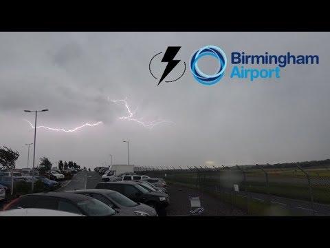 Birmingham Airport Lightning Storms - 5 August 2017