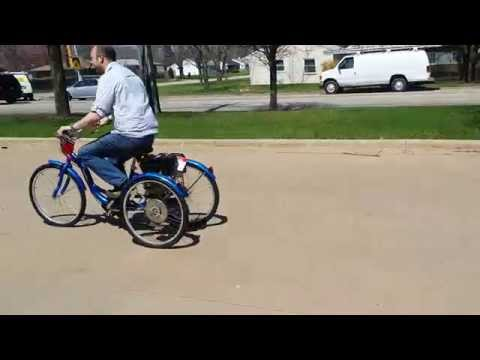 Gas Motorized Tricycle Bike For Sale From saferwholesale.com